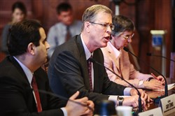Sec. Gary Tennis, secretary of the state Department of Drug and Alcohol Programs, speaks during a hearing of the state Senate Democratic Policy Committee on improving treatment for opioid addiction.