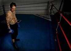 Paul Spadafora works out at his training camp in LaPorte, Ind, in 2009.