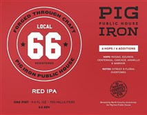 Pig Iron ale label.
