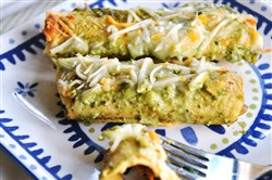 Enchiladas de Espinacas take time to prepare, but it is well worth it.
