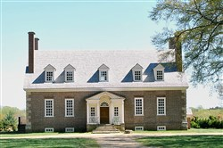 Gunston Hall was built between 1757 and 1759 in the Georgian styles, which emphasized symmetry and balance. The bricks, laid in a Flemish bond pattern, were made on site.