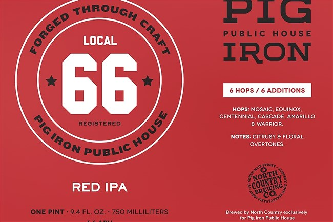 Pig Iron ale label.