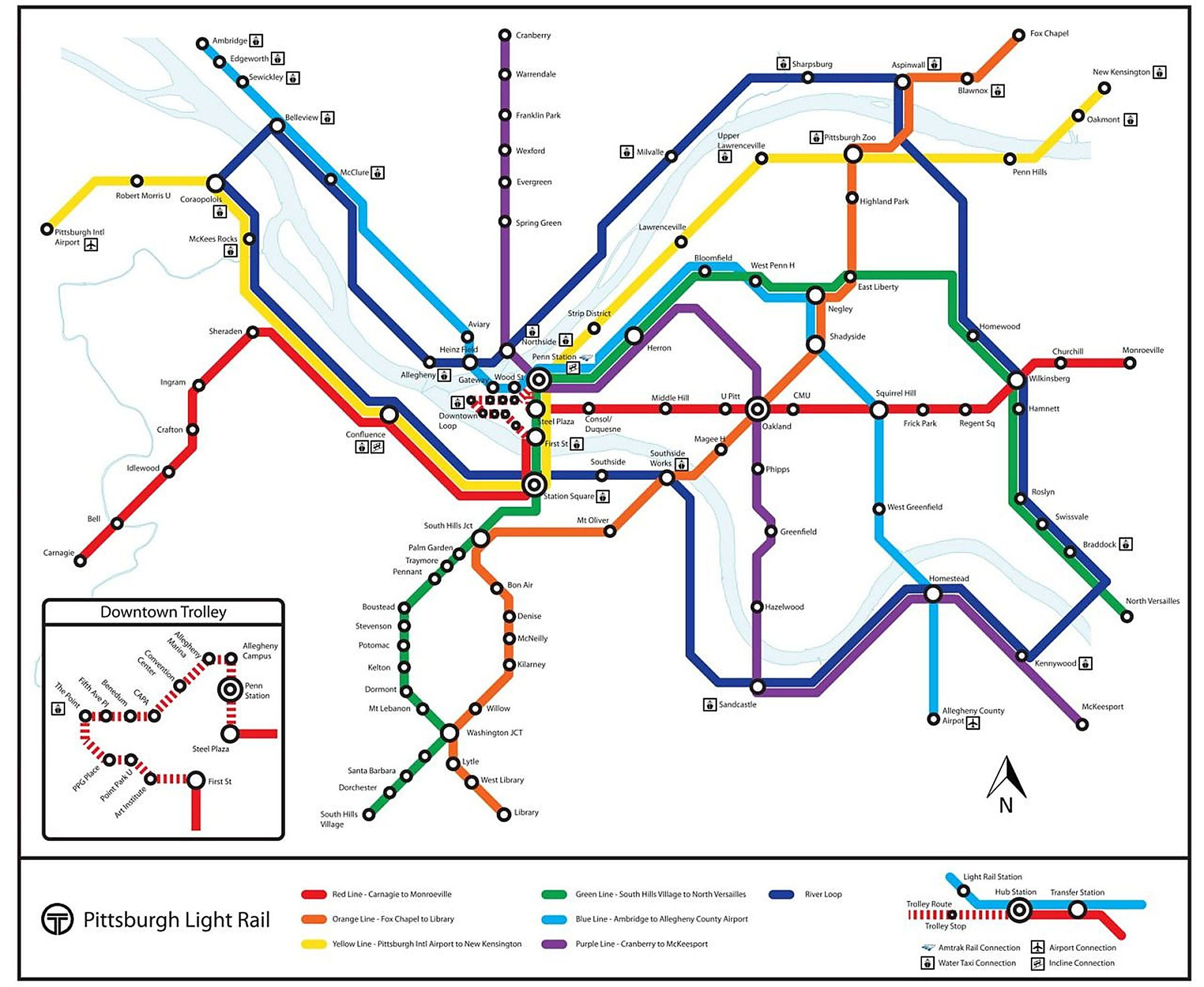 Fantasy Light Rail Map Pittsburgh Wilkinsburg sales chapel
