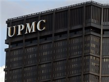 The UPMC letters atop of the U.S. Steel Tower.