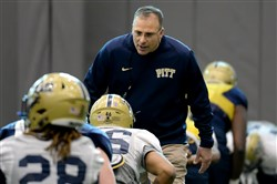 Pitt coach Pat Narduzzi will close his second spring season with the Panthers at today's Blue-Gold Game.