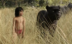 "Mowgli (newcomer Neel Sethi) and Bagheera (voice of Ben Kingsley) embark on a captivating journey in ""The Jungle Book,"" an all-new live-action epic adventure."