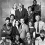 """Hill Street Blues"" cast, top from left: Betty Thomas, Rene Enriquez, Kiel Martin, Taurean Blacque. Middle row: Ed Marinaro, Joe Spano, Veronica Hamel, Daniel J. Travanti, Barbara Bosson, Michael Conrad. Seated: Bruce Weitz, Michael Warren, Charles Haid, James Sikking. Messers. Enriquez, Martin and Conrad have died."
