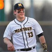 Montour's Trent Vietmeier, a top pitcher and LSU recruit who has mostly stayed off the mound so far this season.