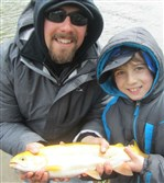 Tyler Harold, 9, and father Greg Harold of Bellevue.