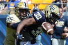 Pitt's Rob Boatright breaks up a pass intended for Jaquaun Davidson Saturday during the spring game at Heinz Field.