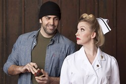 "Patrick Jordan and Kimberly Parker Green in ""One Flew Over the Cuckoo's Nest."""