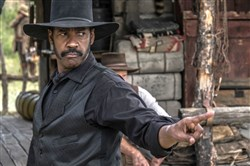 "Denzel Washington stars in the upcoming remake of ""The Magnificent Seven"" from Columbia Pictures."
