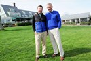 Retiring Oakmont Country Club director of golf Bob Ford, right, stands with his replacement Devin Gee.