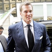 In this June 23, 2015, file photo, Patriots quarterback Tom Brady arrives for his appeal hearing at NFL headquarters in New York.