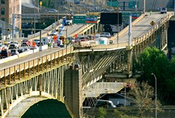 Various lane restrictions will be in effect during the $80 million reconstruction of the Liberty Bridge. The project is scheduled to wrap up in 2018.