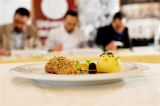 Urbani competition: Samantha Santti and Rachel Walton created a duck breast with truffle mousseline forcemeat to win a truffle cooking competition in Italy.