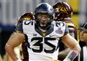 West Virginia linebacker and Bethel Park alum Nick Kwiatkoski at the Cactus Bowl NCAA college football game, Saturday, Jan. 2, 2016, in Phoenix. (AP Photo/Ross D. Franklin)
