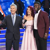 "Sharna Burgess and Antonio Brown received  ""9's"" from the three judges. It was third best score of the night, and once again the team sailed into the next round."