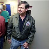 U.S. Senate candidate Joe Sestak after voting in Delaware County on Tuesday