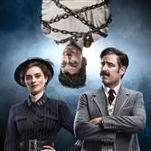 "From left, Rebecca Liddiard, Michael Weston and Stephen Mangan in ""Houdini & Doyle."" HOUDINI & DOYLE premiering Monday on Fox."