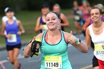Kaylyn Oshaben completed a half-marathon in San Francisco in 2015. She will run the Pittsburgh Marathon Sunday, the same day she graduates from the University of Pittsburgh.