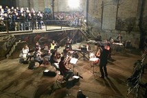 "The Bach Choir of Pittsburgh rehearses Nancy Galbraith's ""Smoke and Steel"" at the Carrie Furnaces site in Swissvale."