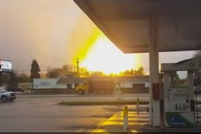 The view from Route 22 when a pipeline exploded in Salem Township, Westmoreland County, on April 29.