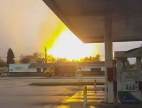 gas well westmoreland 04292016 The view from Route 22 of an explosion that erupted at a gas well site in Salem, Westmoreland County.