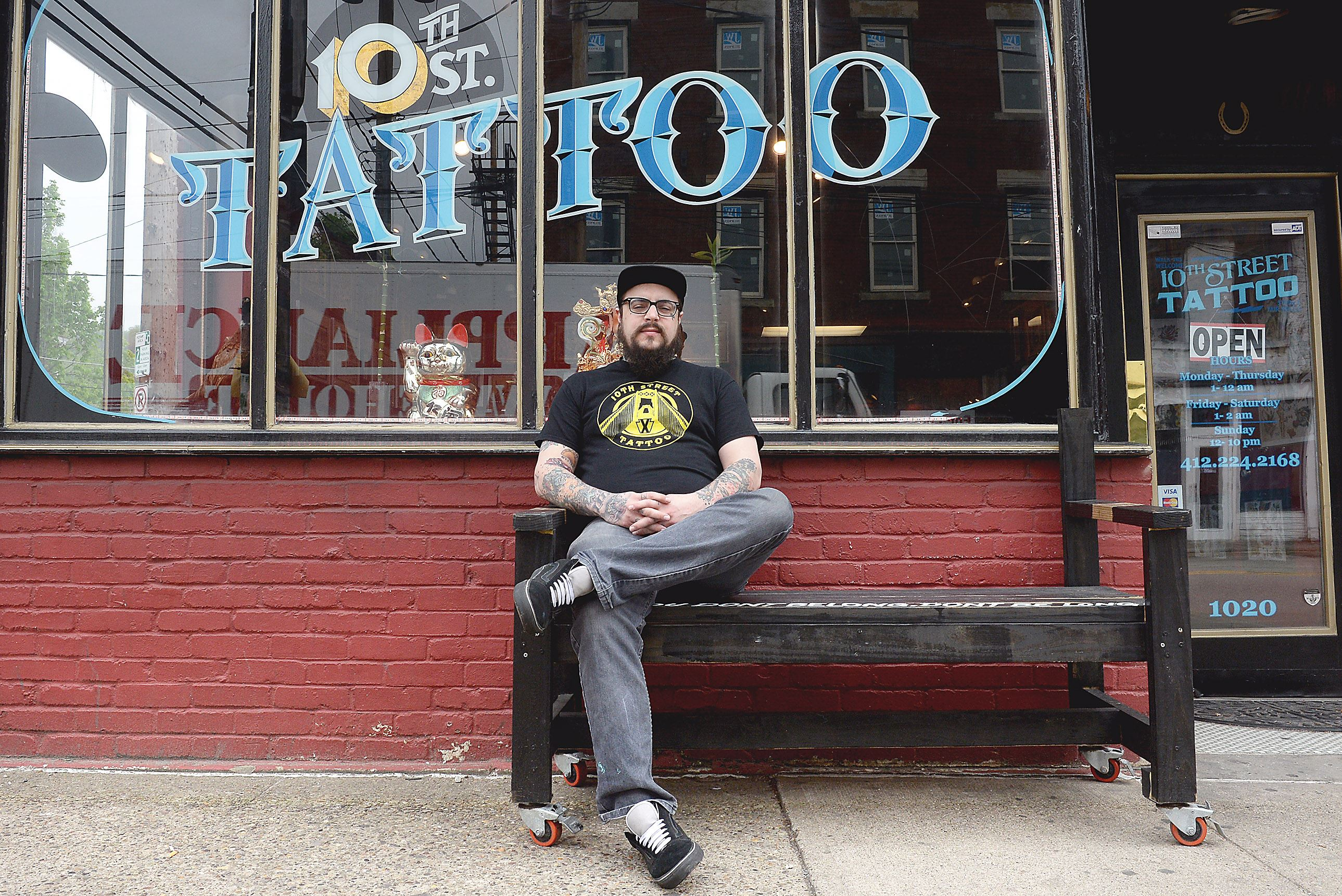 Once a wanted man 39 mook 39 goes legit and trades spray for Tenth street tattoo