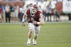 For their final seventh round selection the Steelers picked Temple's Tyler Matakevich, seen here  during a September game against Penn State in Philadelphia.