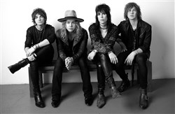 The Struts: From left, Jed Elliott, Adam Slack, Luke Spiller and Gethin Davies.