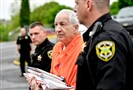 Former Penn State University assistant football coach Jerry Sandusky arrives at the Centre County Courthouse for a hearing in Bellefonte in May.