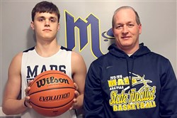 Mars basketball coach Rob Carmody and his son, Robby, are living in the recruiting fastlane.