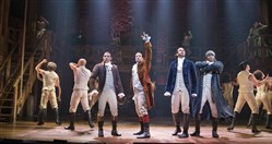 "From left: Anthony Ramos, Lin-Manuel Miranda, Daveed Diggs and Okieriete Onaodowan in ""Hamilton"" at the Richard Rodgers Theatre in New York."