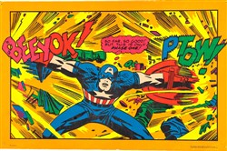 In 1971, Marvel Comics and black light company Third Eye created this poster of Captain America by Jack Kirby.