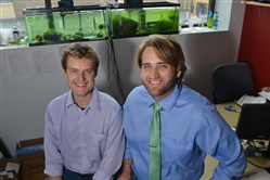 Interphase Materials founders Kasey Catt, left, and Noah Snyder.
