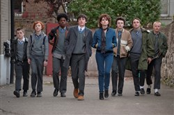"The cast of ""Sing Street."""
