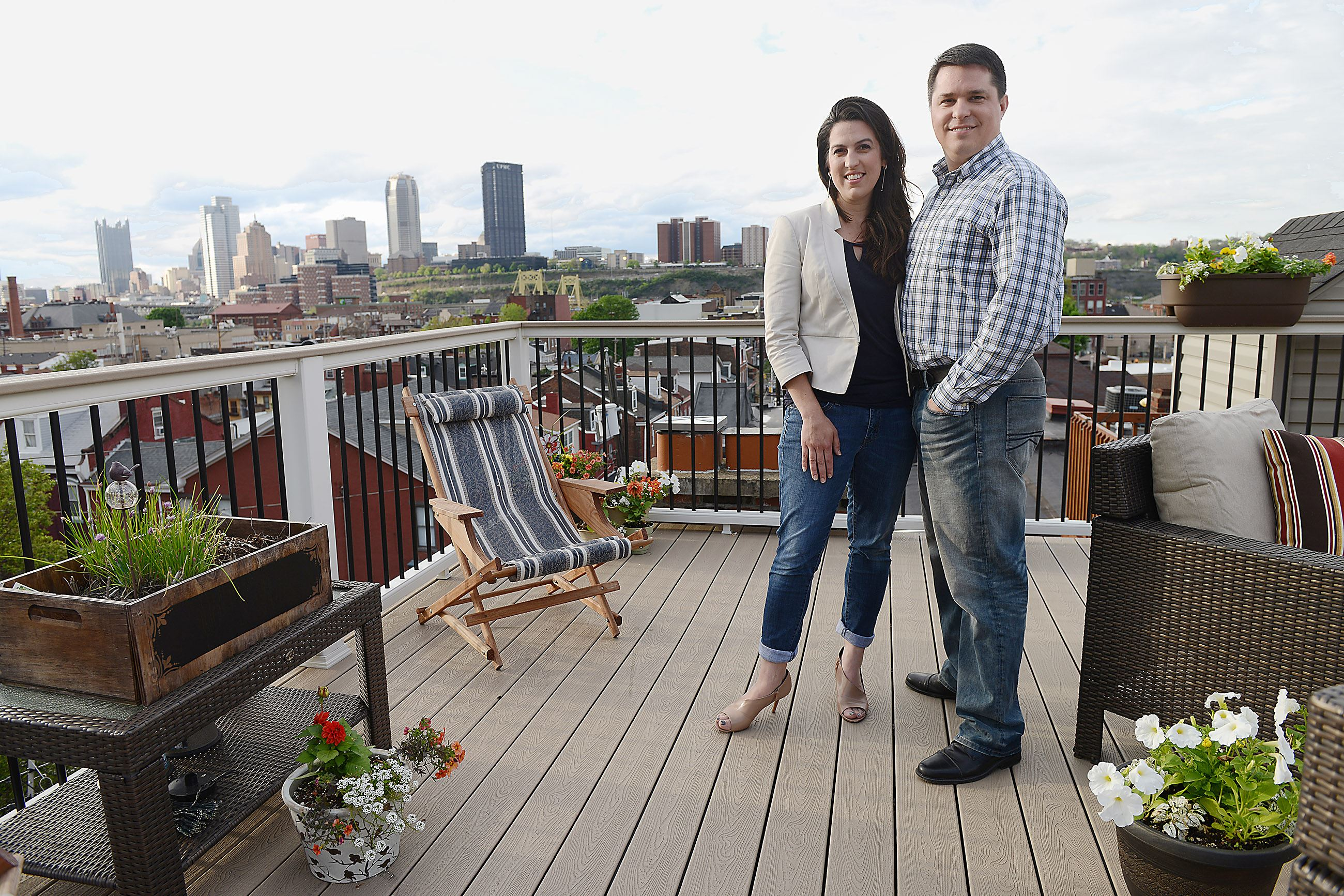 Sky's the limit: Pittsburgh views, unique spaces reward couple's hard...