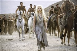 "She's got the power: Daenerys Targaryen (Emilia Clarke) in HBO's ""Game of Thrones"""