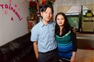 Ashok Gurung and his wife Sarita Gurung at their home in Whitehall. The Gurungs both practice transcendental meditation, which helps Ashok with anxiety.