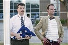 "Danny McBride, left, and Walton Goggins star in HBO's ""Vice Principals."" Its second and final season will air later this year."