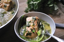 Green Curry Braised Salmon.