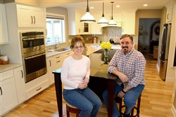 Scott and Joanne Kovaloski of Franklin Park in the kitchen that made them winners of  the PG Renovation Inspiration Contest.