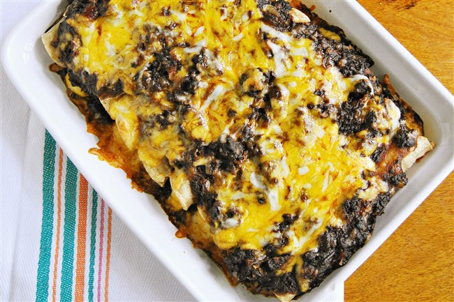 The homemade sauce is the secret to success with Cheese Enchiladas Con Carne.