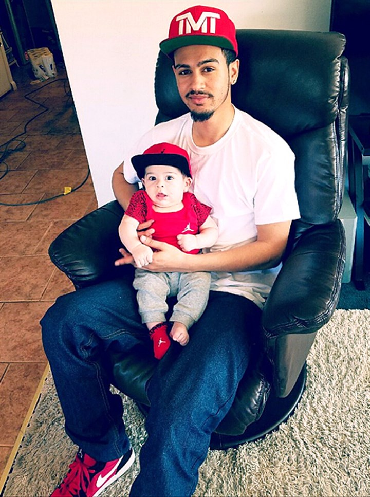 weirton0518 Ronald D. Williams Jr., shot and killed by a Weirton police officer May 6 after a domestic dispute. He is shown here earlier in 2016 with his now 5-month-old son.