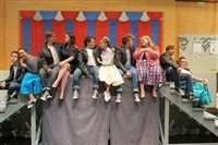"The central characters in Deer Lakes High School's spring production of ""Grease."""