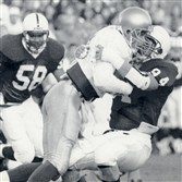 Eric Ravotti (94) at Penn State in 1991.