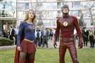 "Supergirl -- ""Worlds Finest"" -- Image: SPG118_2740 -- Pictured (L-R): Melissa Benoist as Kara/Supergirl and Grant Gustin as Barry/The Flash -- Credit: Robert Voets/Warner Bros. Entertainment Inc. �© 2016 WBEI. All rights reserved."