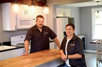 Contractor Chris Waraks and Kim Basick in the kitchen of their latest project, 930 Peralta.