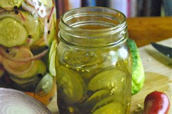 Homade pickles.